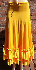 Bal Togs Childs Gold Flamenco Skirt Childrens Kids Dance Competition Dancer