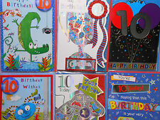 birthday cards  for  10 years old,boy,girl,more designs to choose,