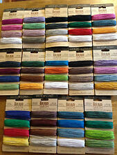 Beadsmith Hemp Cord 20lb 1mm - 36m on each - 14 different colour choices macrame