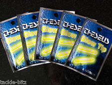 10 x Fishing Tackle Glow Sticks  NIGHT LIGHTS  Float Or Rod Tip Lights