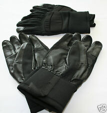SWEDISH ARMY TACTICAL GLOVES, BLACK, NEW, REINFORCED GOAT SKIN LEATHER, #20541