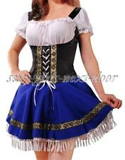 Sexy Blue Dutch Beer Girl Adult COSTUME Fancy Dress Size S-6XL   A017