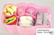 Nursing Baby Travel Storage Diaper Bags Organizer Milk Bottle Divider Pink