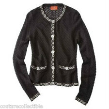 NEW! Missoni Target Textured knit Cardigan Sweater Jacket -Black/White Famiglia