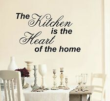 The Kitchen is the heart of home wall art sticker quote - 4 sizes - wa45