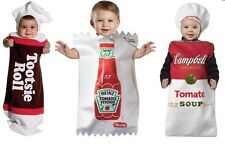 Halloween Baby Costumes: Ketchup, Campbell's Soup, or Tootsie Roll (3-9 months)