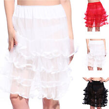 "22"" Gothic Rockabilly Petticoat Pettiskirt Tutu Party Underskirt Fancy Dress"
