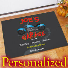 Personalized Harley Garage Doormat Davidson Floor Mats Motorcycle Floormats Mat