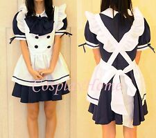 Japanese Girl Maid uniform Cosplay lolita Costume Dress Japan Cute DISCOUNT