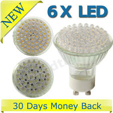6X GU10/MR16 21/38/48/60/80 LED Day Warm White Bulbs Light Energy Saving UK Ship