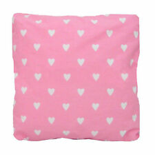 "Pink Heart Valentine Cushions / Cushion Covers Zipped 16"" 18"" 20"" 22"" 24"" Cotton"