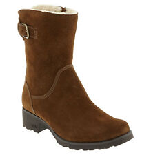 UGG Australia MARE Suede Buckle Logo Zipper Ankle Boots