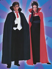 "Halloween 56"" Black or Red Dracula Vampire Cape Vampiress Fancydress Accessory"