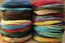 1mm Waxed Cotton Braided Cord Wax Macrame Beading Jewelry Making String 20 Yards