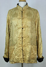 New Lan Vie Reversible Jacket Silk Jacquard Ancient Chinese Pattern Sizes 14-20