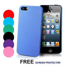 Ultra Thin fleXi Stylish Hard Case Cover For Apple iPhone 5 + Screen Protector
