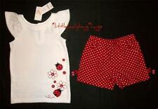 NWT Gymboree POLKA DOT LADYBUG Sparkly Rhinestone Top Shirt Red Shorts Girls 6
