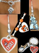 OSU Oklahoma State University Bracelet Earrings Keychain Sports NCAA Fan Jewelry