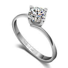 Solid Sterling Silver Ring CZ Comfort Fit Design Lady's Gift PR202412