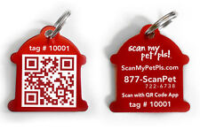 Fire Hydrant QR Code Pet ID Tag in Red