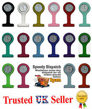 New Nurse's Silicone Fob Tunic Brooch Quartz Watch Choose Your Colour UK SELLER