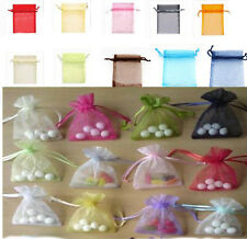 NEW 50pcs Luxury Organza Wedding Favor Xmas Gift Bags Jewellery Pouch 7x9cm PICK