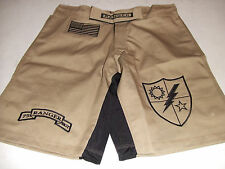 ARMY RANGER DESERT TAN COMBATANT MMA PT S-T-COMP BOARD / FIGHT SHORTS SIZE S-3XL