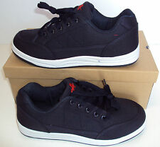 Men's Blue Canvas Skate Lace Up Casual Trainers New Shoes Size 7 8 9 10 11 12 UK