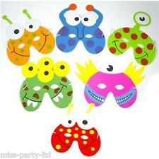 2 x KIDS PARTY BAG ANIMAL MASKS CAT DOG BUTTERFLY BUTTERFLY PIG MONSTER ALIEN