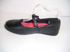 Girls Black Tanny Buckle Fastening School Shoes.  Sizes 12, 13, 1 & 2 Available