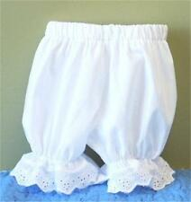 Baby Girl's Eyelet Trimmed Cotton Knicker Bloomers - 5 Sizes 3-6M thru 18-24M