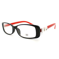 Womens Clear Lens Glasses Rectangular Frame with Cute Bow Detail (6 Colors)