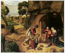 The Adoration of the Shepherds,c. 1510-  GIORGIONE - Life of Jesus on Canvas