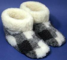 Men's sheep Wool SLIPPERS New felt Boots sheepskin Warm Valenki Ukrainian snuggs