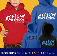 TAEKWONDO ape EVOLUTION Korean martial arts sports funny hoody hoodie kids boys