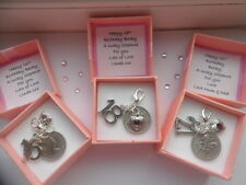16TH 18TH 21ST BIRTHDAY LUCKY SIXPENCE CHARM GIFT PERSONALISED