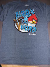 ANGRY BIRDS the bird is the word ADULT T-Shirt **NEW video online game gamer