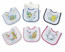 Nursery Time Baby Meal Bibs Packs of 3 For Boys and Girls Assorted Motives New