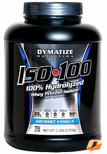DYMATIZE NUTRITION ISO 100 ISO100 WHEY PROTEIN ISOLATE ZERO CARB & FAT 5LB 2.3KG