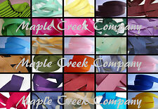 Grosgrain Ribbon 7/8 inch x 5 yards (15 feet of cut ribbon) 34 COLORS AVAILABLE