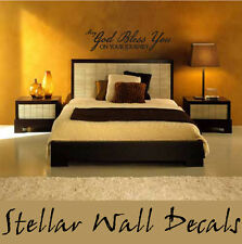May god  bless you Christian Vinyl Wall Decal Quotes Words C042MayGodII