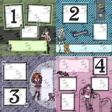 Monster High ~ Digital Premade scrapbooking pages 8 page Album 1 or Album 2