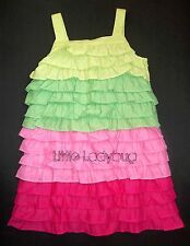NWT Gymboree FLORAL MERMAID Colorblock Tiered Ruffle Dress Girls 8 9 10 12