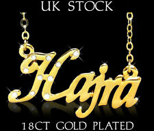 HAJRA NAME NECKLACE 18ct Gold Plated Asian/Arabic Personalised Jewellery Gift 4