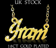 Arabic Name Necklace IRAM 18ct Gold Plated Personalised Fashion Jewelery Gifts