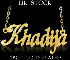 NAME NECKLACE KHADIJA 18ct Gold Plated Personalised Fashion Jewelery Gifts