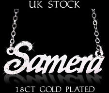 SAMERA NAME NECKLACE Fashion Jewelry Personalised Designer Gifts Arabic/Asian
