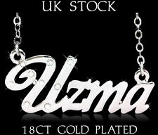 UZMA NAME NECKLACE 18ct Gold Plated Asian/Arabic Personalised Jewelry Gifts