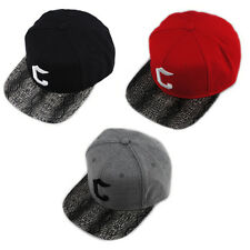 CROOKS AND CASTLES SNAKESKIN PEAK INITIAL BLACK RED FLAT PEAK SNAPBACK HAT CAP