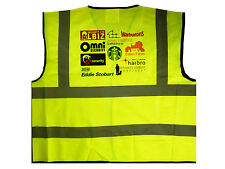 Personalised Custom HI VIZ Vests - Printed with your text, logo or company name!
